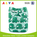 Alvababy Elephant Pattern Baby Cloth Diapers Washable Baby Nappy