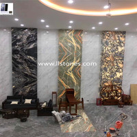 Hot sale Panda white marble floor tile cheap white mable panle Foshan marble price