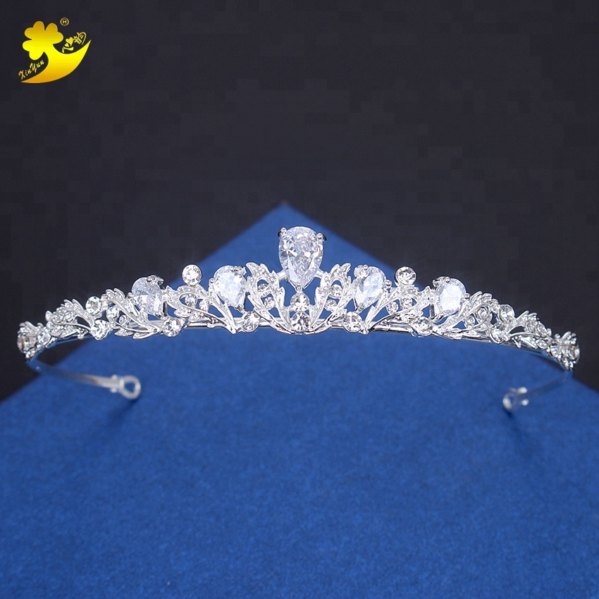 New trend AAA zircon hair accessories fashion wedding return gift crystal bridal wear tiara <strong>crown</strong>