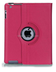 High Quality Logo Custom 360 Degree Rotating leather flip smart cover case for ipad 2 3 4