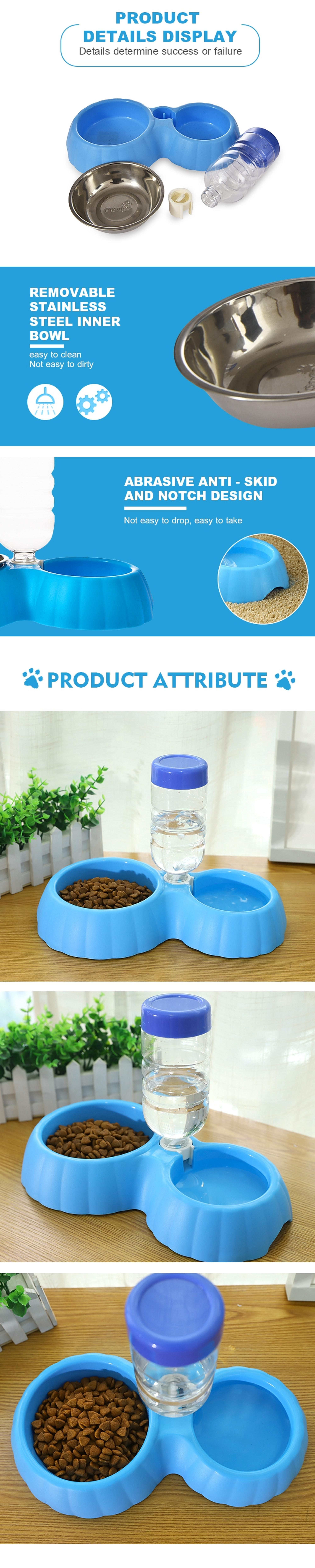 Tianyuan pet dog water bottle with dog bowl,double dog bowl