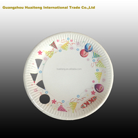 Disposable offset printing paper plate tableware