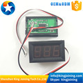 "KJ751 LED Display Color 0.56"" Digital Voltmeter DC:0-100V 3 bit Voltage Panel Meter"