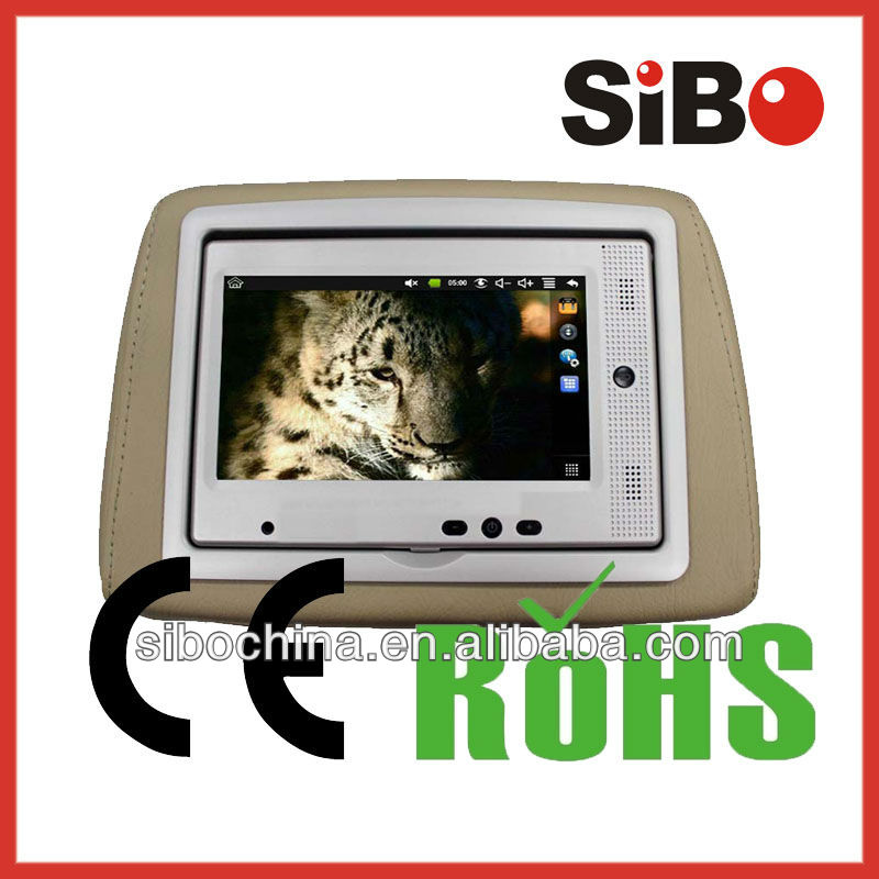 Android 7 Inch Monitor for Car with RJ45 Ethernet Port, Wifi, 3G and Headrest