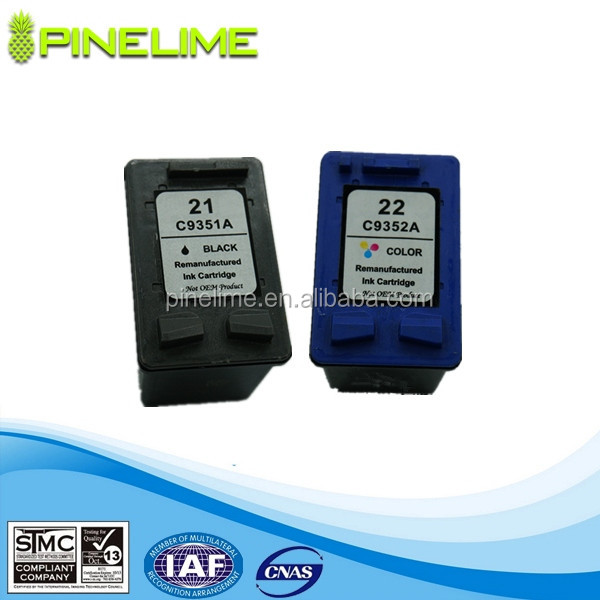 High Quality inkjet cartridge for HP 21 22 21xl 22xl inkjet cartridge