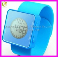 Newest arrival promotional digital silicone bracelet watch with FDA and ROHS approved