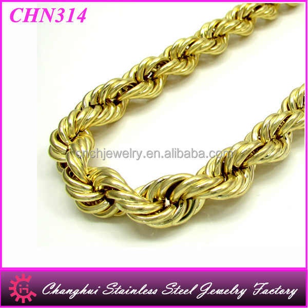 Men'S 14K Yellow Gold Rope Chain