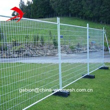 Australia temporary metal fencing panels for sale with plastic base