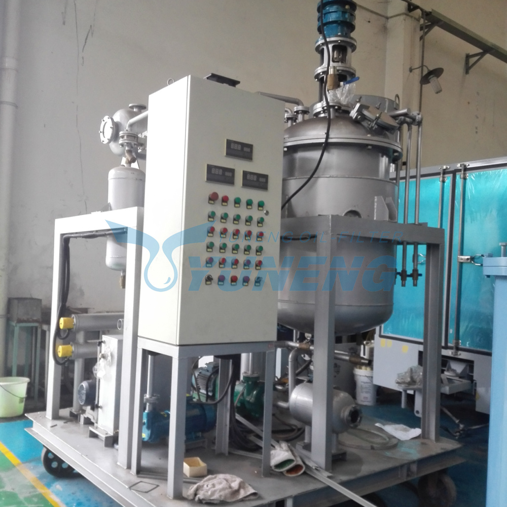 Yuneng Waste Motor Oil Recycling Machine Change Color