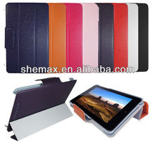 Luxury Wallet Flip Leather Case Cover Stand For Google Nexus 7 Tablet With Sleep Wake