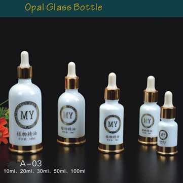 30ml glass dropper bottles gold/silver electroplated