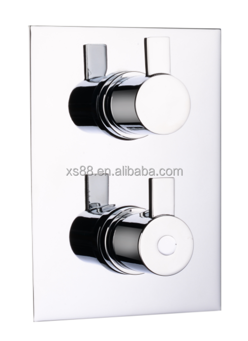 Chromed Concealed Thermostatic shower valve with flow cartridge one way AZ-31