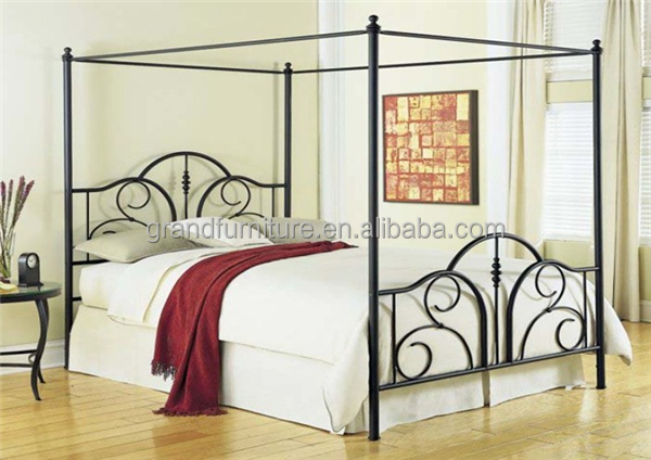 High quality metal queen canopy bed