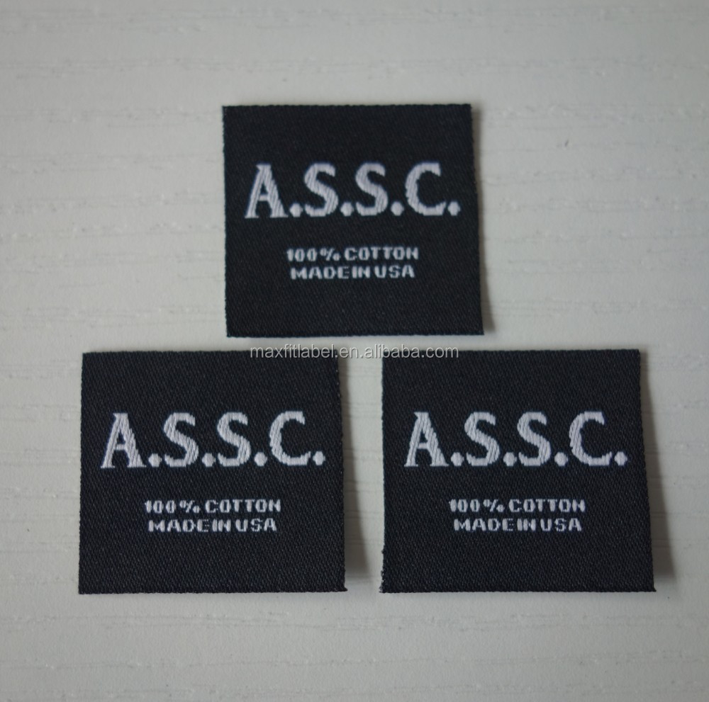 2017 Custom high quality gold silver metal thread garments Woven Labels