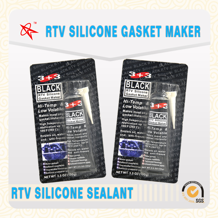 Engine gasket usage high-temperature resistance black RTV silicone gasket maker