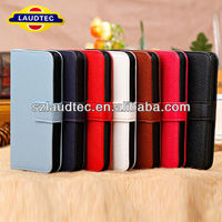 Color Luxury Lychee Credit Card Wallet Case for Apple iPhone 5C