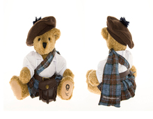 28cm beautiful promotional customized soft stuffed plush Scotland Kilt teddy bear doll toy with matched hat,white T-shirt,skirt