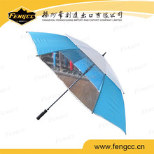 promotional advertising folding windproof auto open and close transparent window umbrella