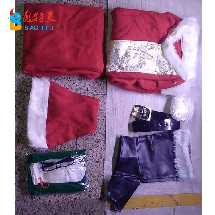 high quality christmas santa claus cosplay costume