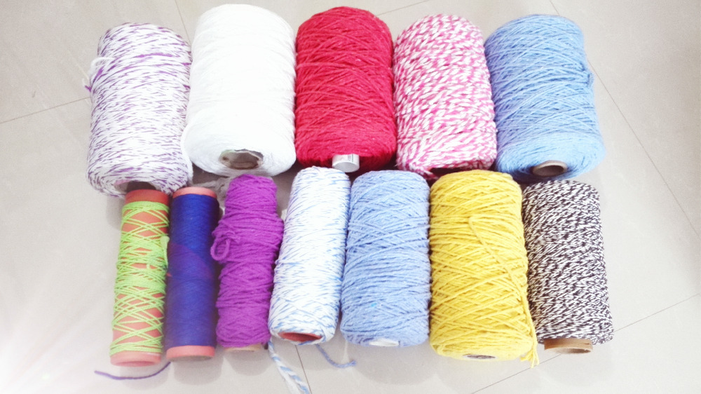 Nm0.5~Nm10 recycled cotton yarn for making mops