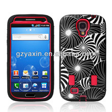 Silicon PC Hybrid Case For Samsung Galaxy S4 I9500,Camo Case For Samsung Galaxy S4
