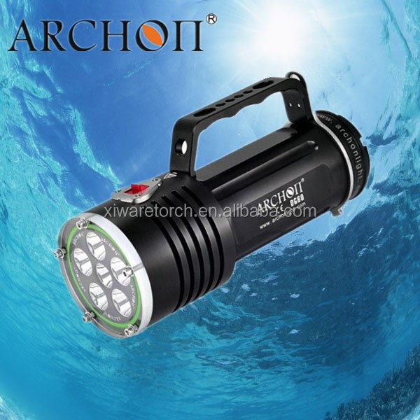 ARCHON WG66/W51 5000 Lumens waterproof IP68 CE approved lighting distance led dive torch