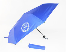 Hot selling colorful printing super light 3 folding umbrellas