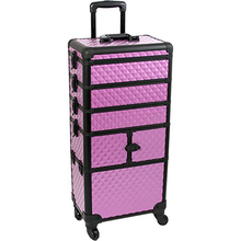 Professional Artist Rolling Makeup Artist Case Makeup Trolley Travel Cosmetic Case Beauty Train Case