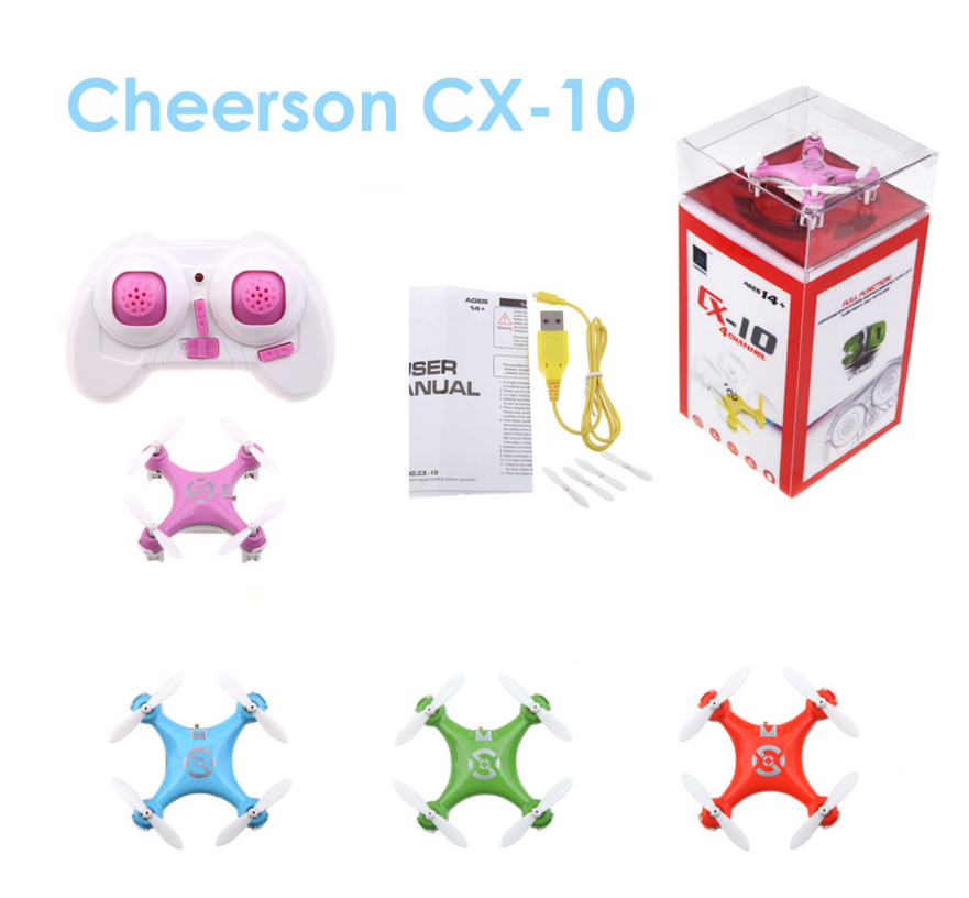 Toys to Kids Cheerson CX10 Drone Mini 2.4G 4CH 6 Axis LED RC Quadcopter RTF cheap mini rc helicopter