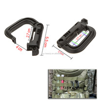 D-shaped Climbing Carabiner Tactical Backpack Snap Shackle Clip Hiking Camping Paracord Buckles Key Ring Travel Kits