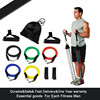 Fitness resistance tube with clips