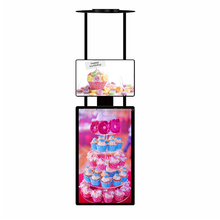 180 degree Rotatable Ceilling Hanging lcd advertising display with light box poster for shop window or indoor