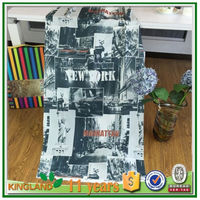 flower printed design waterproof Polyester fabric shower Curtains european style window curtains