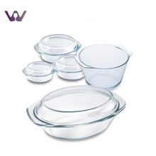 Clear and Eco-Friendly Tempered Glass Cooking Pot Set