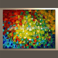 Newest Handmade Stretched Abstract Art Picture For Decor In Discount Price