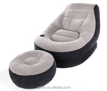 Inflatable Air sofa with stool in TPU fabric outdoor, indoor use
