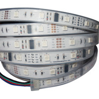 5m DC12V WS2801 pixel strip,36leds/m with 12pcs(12pixels) WS2801 IC 5050 smd rgb led chip;waterproof in tube