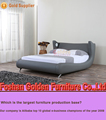 Newest design queen size soft leather euro bed