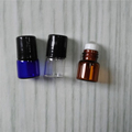 1ml Clear Amber Blue Essential Oil Roll On Bottle With Roller And Plastic Cap