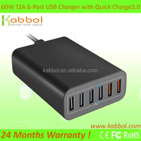 Alibaba USB Hub with 2 port QC 2.0 Multi Port Charging Station for iPhone, iPad, Samsung, Nexus, HTC