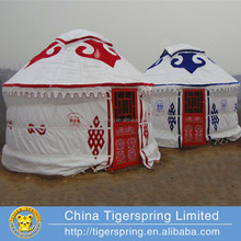 Luxury permanent steel or wood frame mongolian yurt tent