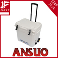 LLDPE plastic cooler box with wheels and trolley (ANSUO-45L)