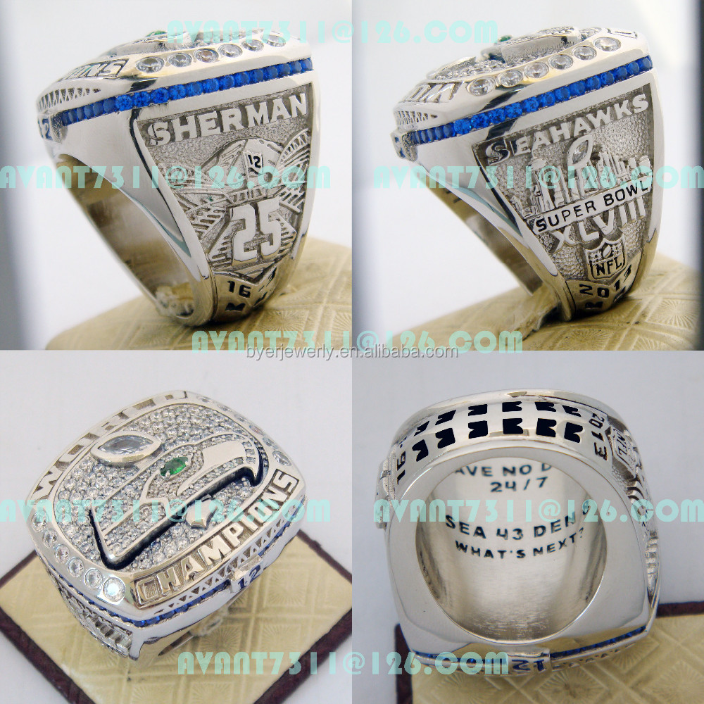 Replica NFL 2013 seattle seahawks champions ring super bowl championship rings