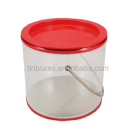 handle removable top PVC plastic packaging box