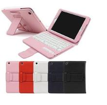 Hot sale high quality removable stand leather wireless tablet keyboard case for ipad mini