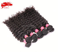 brazilian 24 inch human weave extension curly wave weaving virgin human hair bun