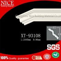 waterproof PU Plain panel cornice building decoration moulding