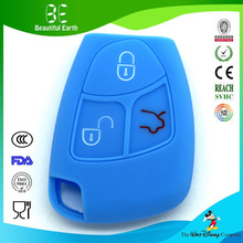 Waterproof silicone car key cover remote rubber silicone car key case for mercedes-benz smart