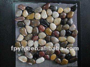 Normal Polished Pebble Tile Mixed Color