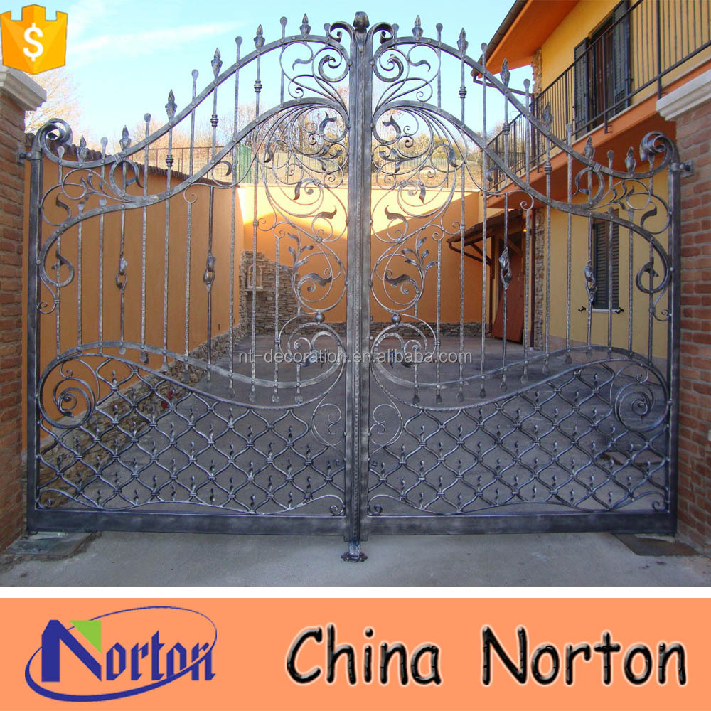 yard gate fence gate garden iron gates models NTIRG-081S